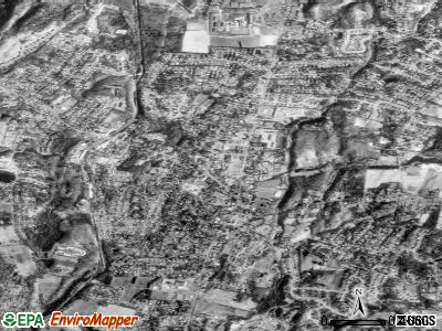 Cheshire Village satellite photo by USGS