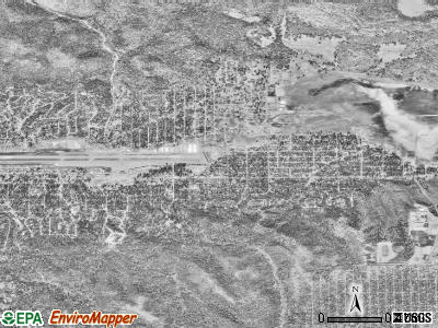 Big Bear City satellite photo by USGS
