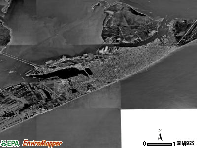 Galveston satellite photo by USGS