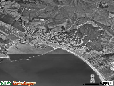 El Granada satellite photo by USGS
