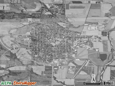 Clarinda satellite photo by USGS