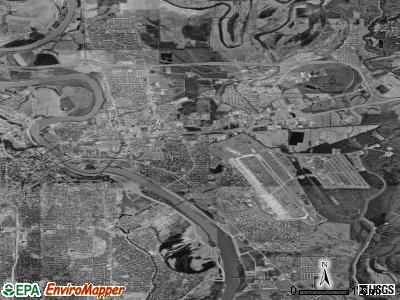 Bossier City satellite photo by USGS