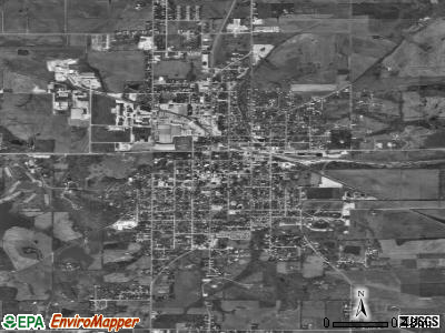 Huntingburg satellite photo by USGS