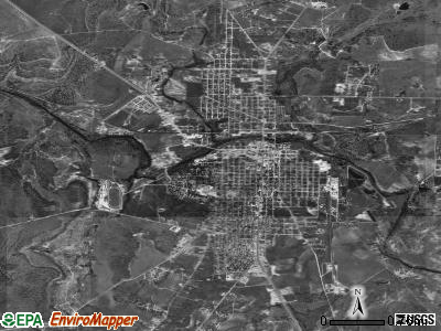 Brady satellite photo by USGS