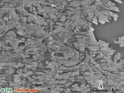 Smithville satellite photo by USGS
