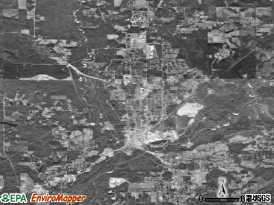 Brewton satellite photo by USGS