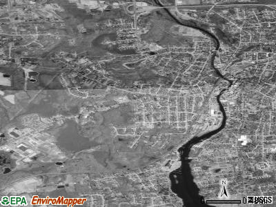 Pawcatuck satellite photo by USGS