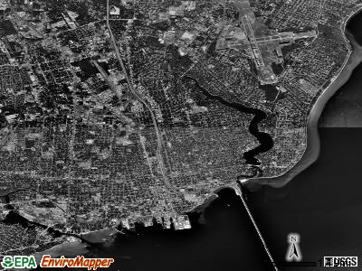 Pensacola satellite photo by USGS
