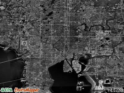 Tampa satellite photo by USGS