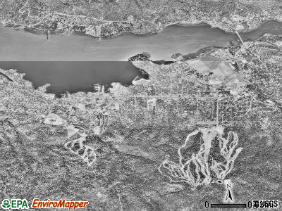 Big Bear Lake satellite photo by USGS