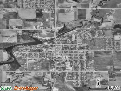 Stewartville satellite photo by USGS