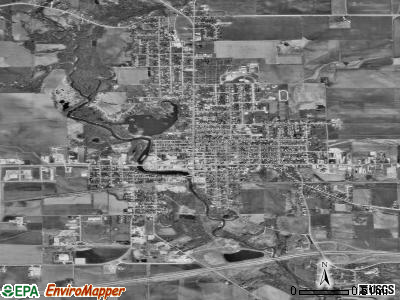 Manchester satellite photo by USGS