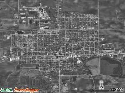 Worland satellite photo by USGS