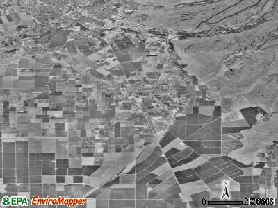 Durham satellite photo by USGS