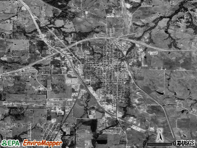 Decatur satellite photo by USGS