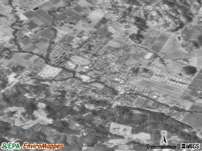 Calistoga satellite photo by USGS
