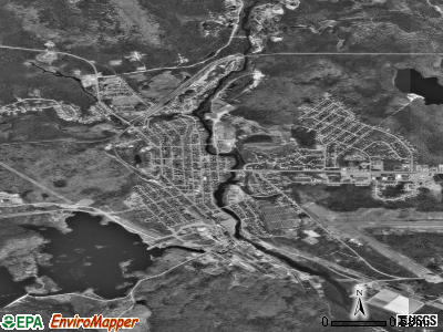 Millinocket satellite photo by USGS