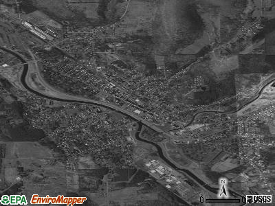 Wellsville satellite photo by USGS