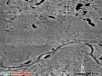 St. Paul satellite photo by USGS