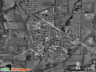 Mulvane satellite photo by USGS