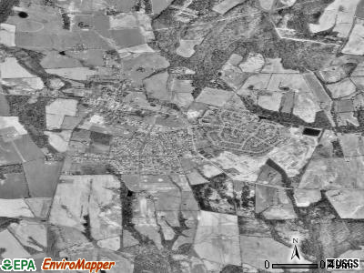 Poolesville satellite photo by USGS