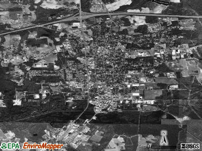 Whiteville satellite photo by USGS