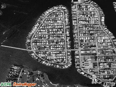 Bay Harbor Islands satellite photo by USGS