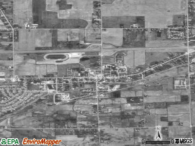 Swartz Creek satellite photo by USGS