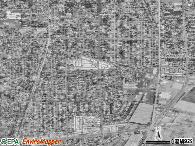 Mayflower Village satellite photo by USGS