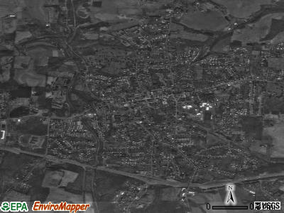 St. Clairsville satellite photo by USGS