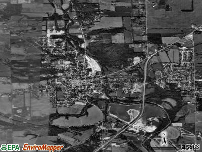 Eagleton Village satellite photo by USGS