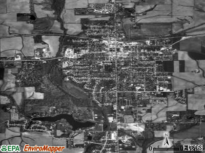 Eureka satellite photo by USGS