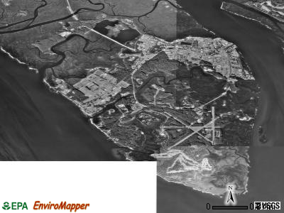 Parris Island satellite photo by USGS