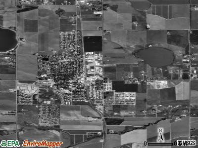 Berthoud satellite photo by USGS