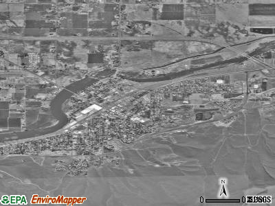 Prosser satellite photo by USGS