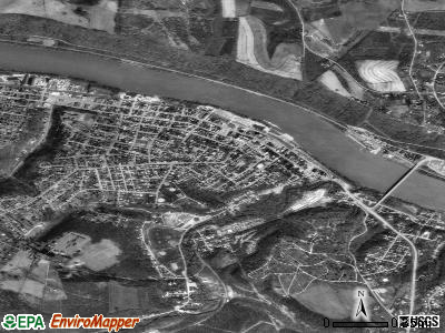 Monongahela satellite photo by USGS