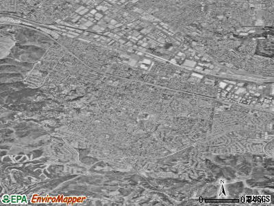 Hacienda Heights satellite photo by USGS