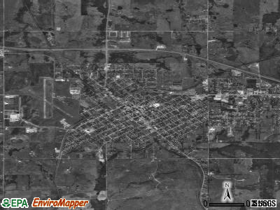 Holdenville satellite photo by USGS