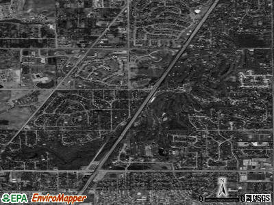 Olympia Fields satellite photo by USGS