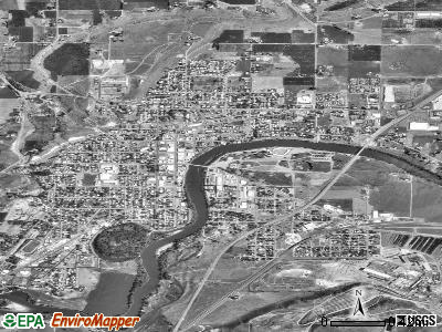 Omak satellite photo by USGS