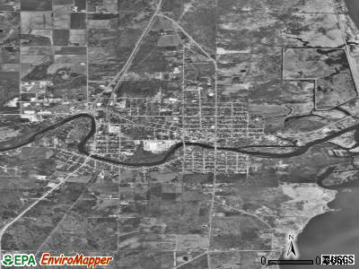 Oconto satellite photo by USGS