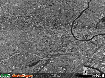 Newark satellite photo by USGS