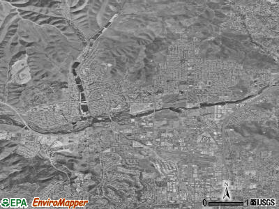 Santee satellite photo by USGS