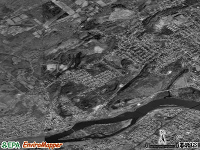 Larksville satellite photo by USGS