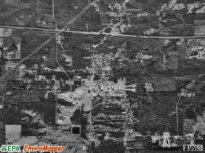 Grambling satellite photo by USGS