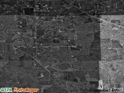 Missouri City satellite photo by USGS