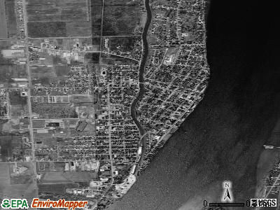 Marine City satellite photo by USGS