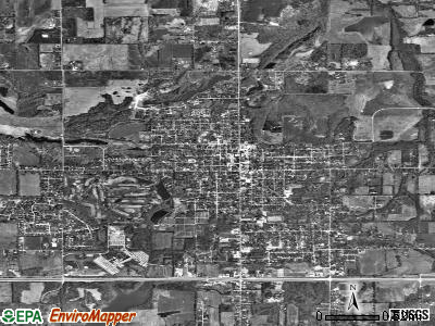 Carterville satellite photo by USGS