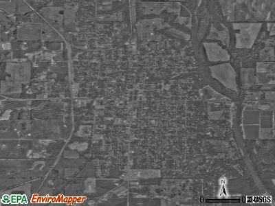 Baxter Springs satellite photo by USGS