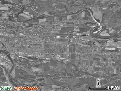 Carson City satellite photo by USGS